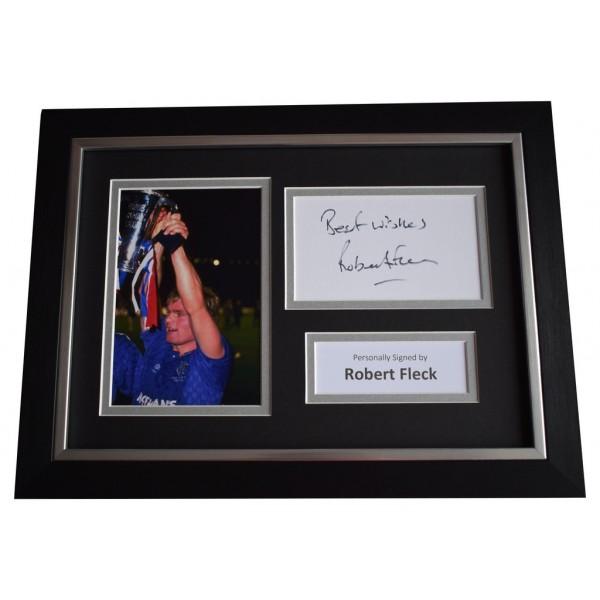Robert Fleck Signed A4 FRAMED photo Autograph display Glasgow Rangers  AFTAL &  COA Memorabilia PERFECT GIFT