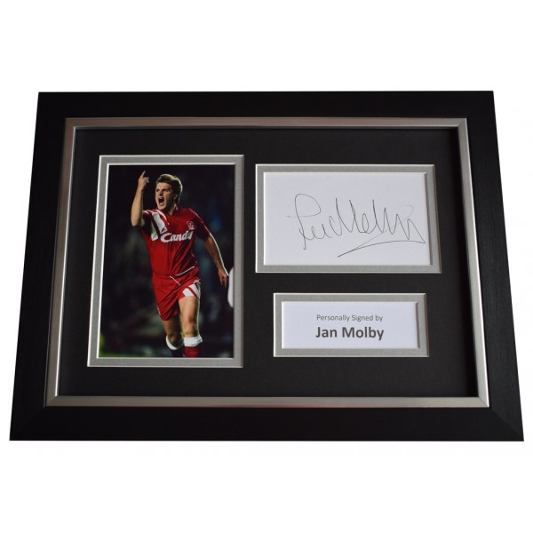Jan Molby Signed A4 FRAMED photo Autograph display Liverpool Football  AFTAL &  COA Memorabilia PERFECT GIFT