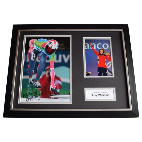 Amy Williams SIGNED FRAMED Photo Autograph 16x12 display Olympics Skeleton AFTAL  COA Memorabilia PERFECT GIFT