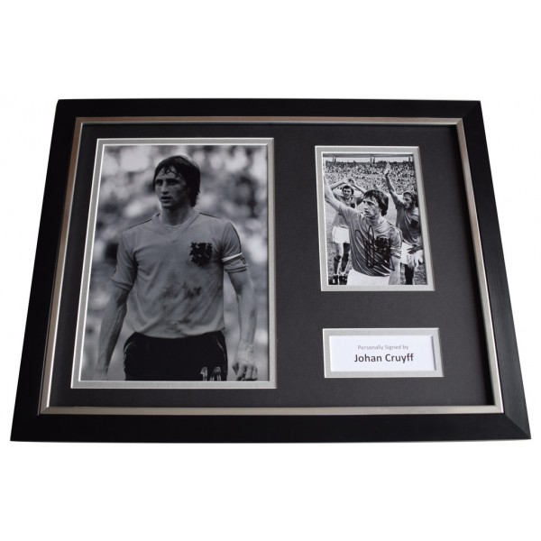 Johan Cruyff SIGNED FRAMED Photo Autograph 16x12 display Holland Football AFTAL  COA Memorabilia PERFECT GIFT