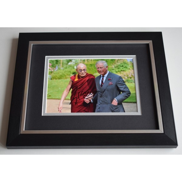 Dalai Lama SIGNED 10X8 FRAMED Photo Autograph Holiness Tenzin Gyatso   AFTAL & COA Memorabilia PERFECT GIFT