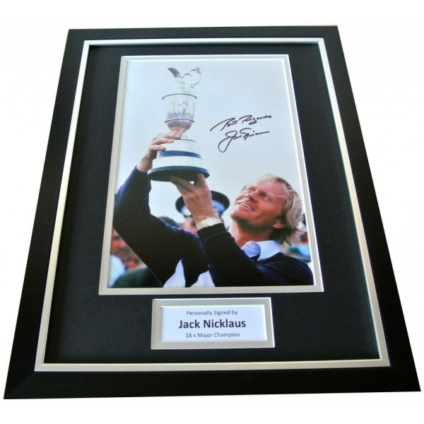 Jack Nicklaus Signed & FRAMED Photo Autograph Display Golf Golden Bear & COA PERFECT GIFT