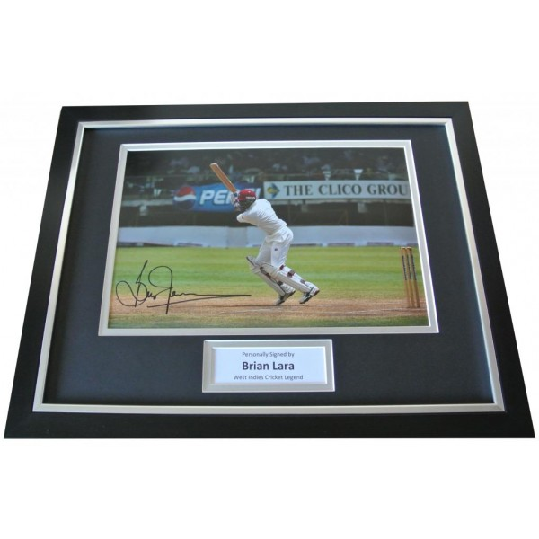 Brian Lara Signed & FRAMED Photo Autograph Display West Indies Cricket & COA PERFECT GIFT