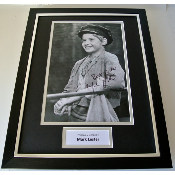 Mark Lester SIGNED FRAMED Photo Autograph 16x12 display Oliver Film & COA   PERFECT GIFT