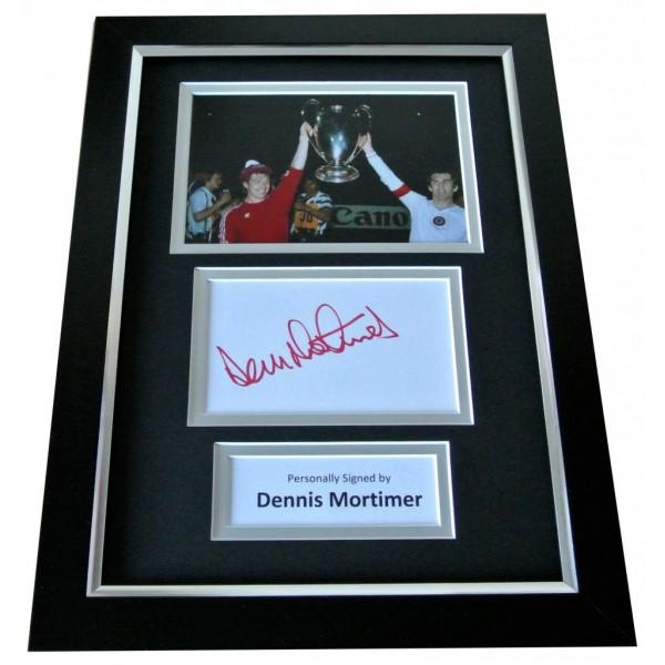 Dennis Mortimer Signed A4 FRAMED Photo Autograph Display Aston Villa & COA PERFECT GIFT