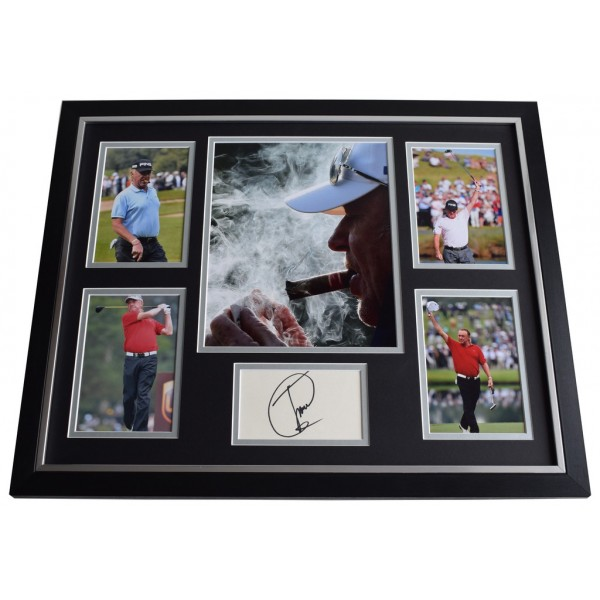 Miguel Angel Jimenez SIGNED Framed Photo Autograph Huge display Golf  AFTAL & COA Memorabilia PERFECT GIFT