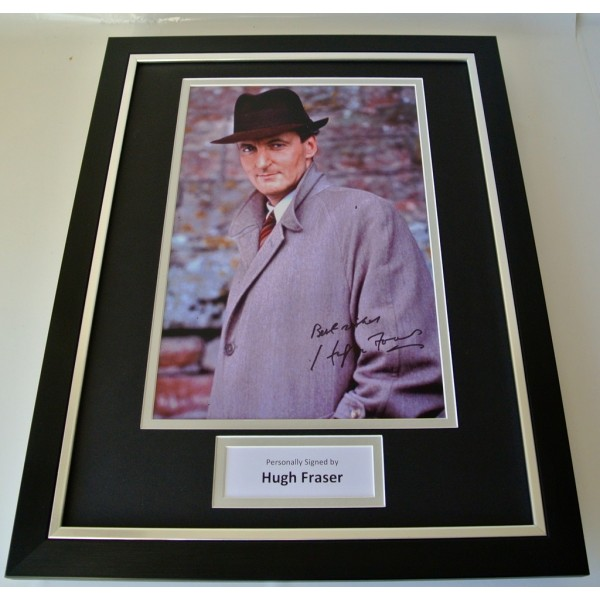Hugh Fraser SIGNED FRAMED Photo Autograph 16x12 display Poirot TV Captain & COA   PERFECT GIFT