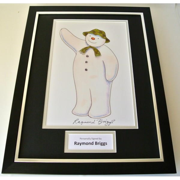 Raymond Briggs SIGNED FRAMED Photo Autograph 16x12 display TV Snowman & COA  PERFECT GIFT