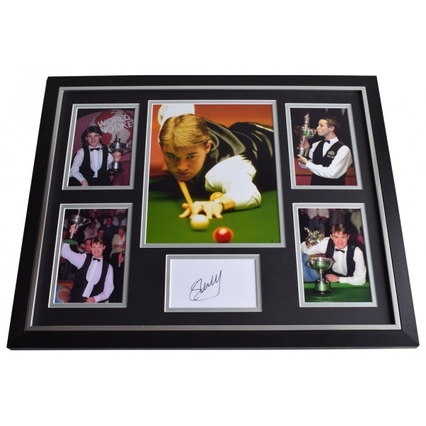 Stephen Hendry SIGNED Framed Photo Autograph Huge display Snooker AFTAL & COA Memorabilia PERFECT GIFT