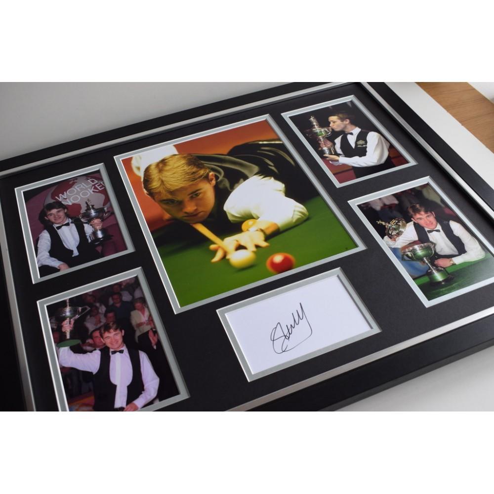 Stephen Hendry Signed A4 Photo Genuine Snooker Autograph Display Memorabilia COA