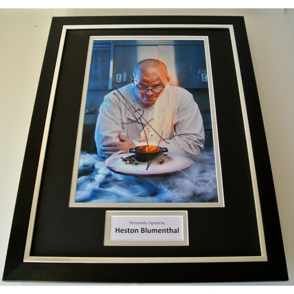 Heston Blumenthal SIGNED FRAMED Photo Autograph 16x12 display TV Chef & COA   PERFECT GIFT