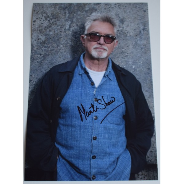 Martin Shaw SIGNED 12x8 Photo Autograph TV George Gently    AFTAL &  COA Memorabilia