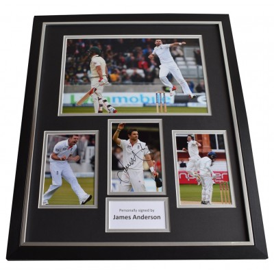 James Anderson SIGNED Framed Photo Autograph Huge display Cricket  AFTAL & COA Memorabilia PERFECT GIFT