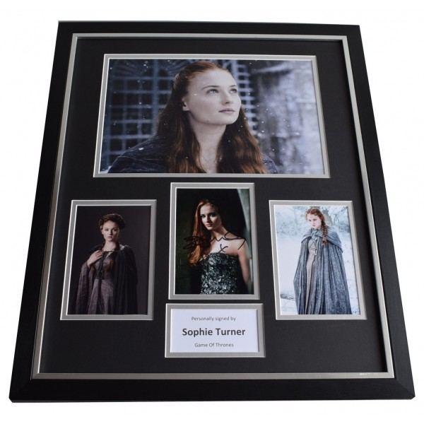 Sophie Turner SIGNED Framed Photo Autograph Huge display Game of Thrones TV   AFTAL & COA Memorabilia PERFECT GIFT