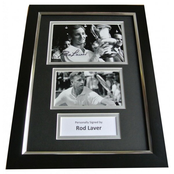 Rod Laver Signed A4 FRAMED Photo Mount Autograph Display Tennis Champion & COA PERFECT GIFT