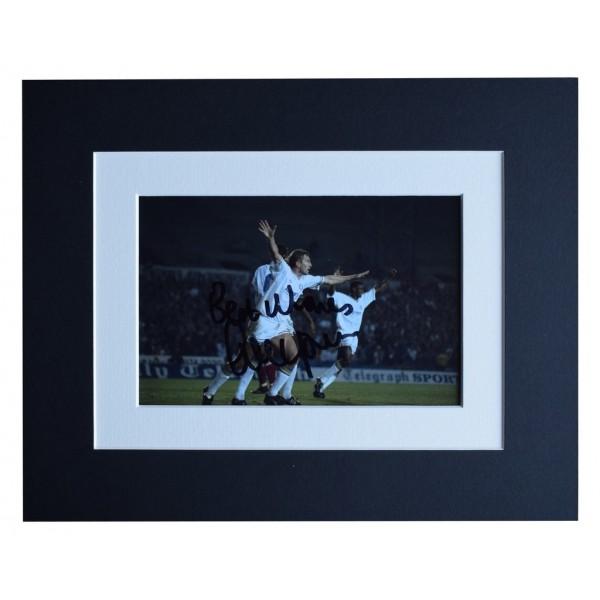 Lee Chapman Signed Autograph 10x8 photo display Leeds United Football AFTAL  COA Memorabilia PERFECT GIFT
