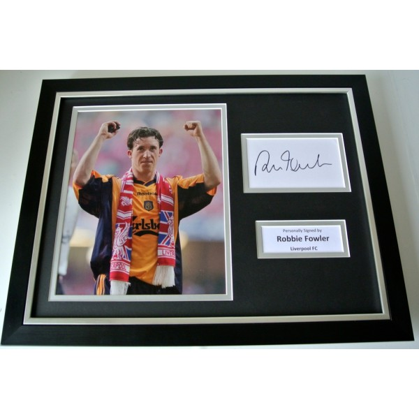 Robbie Fowler SIGNED FRAMED Photo Autograph 16x12 display Liverpool PROOF & COA               PERFECT GIFT