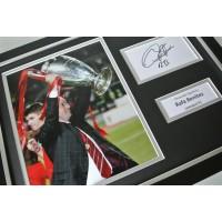 Rafa Benitez SIGNED FRAMED Photo Autograph 16x12 display Liverpool Istanbul COA                      PERFECT GIFT