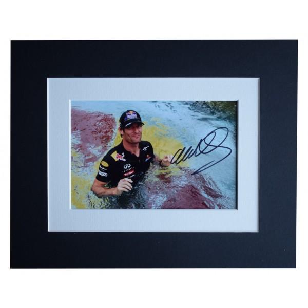 Mark Webber Signed Autograph 10x8 photo display Formula 1 Motor Racing AFTAL  COA Memorabilia PERFECT GIFT