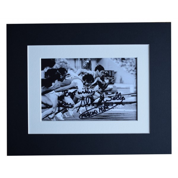 Allan Wells Signed Autograph 10x8 photo display Olympic 100 metres AFTAL  COA Memorabilia PERFECT GIFT