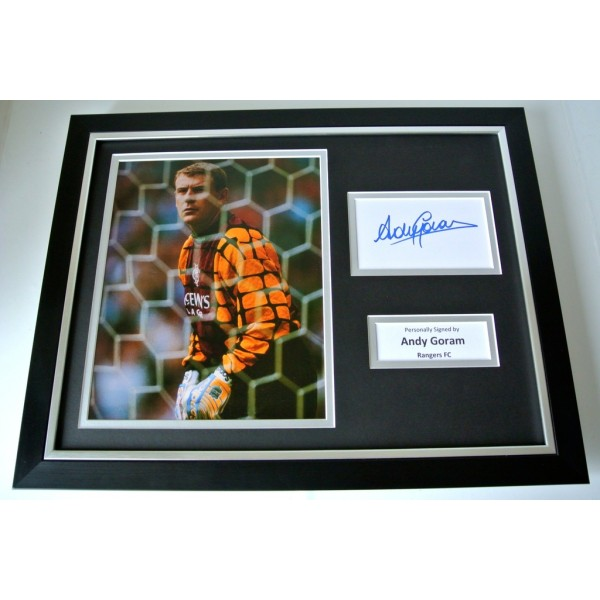 Andy Goram SIGNED FRAMED Photo Autograph 16x12 display Glasgow Rangers PROOF COA                         PERFECT GIFT