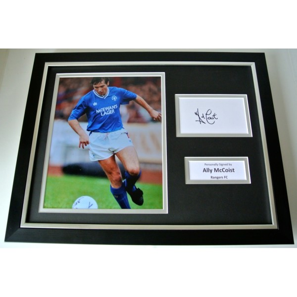 Ally McCoist SIGNED FRAMED Photo Autograph 16x12 display Glasgow Rangers PROOF          PERFECT GIFT