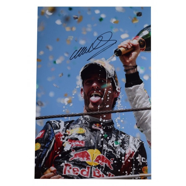 Mark Webber SIGNED 12x8 Photo Autograph Formula 1 Racing   AFTAL  COA Memorabilia PERFECT GIFT