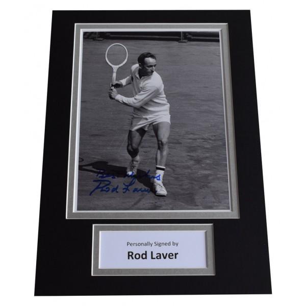 Rod Laver Signed Autograph A4 photo display Tennis Sport AFTAL  COA Memorabilia PERFECT GIFT
