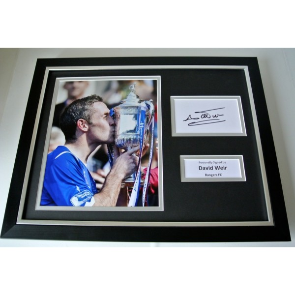 David Weir SIGNED FRAMED Photo Autograph 16x12 display Glasgow Rangers & COA        PERFECT GIFT