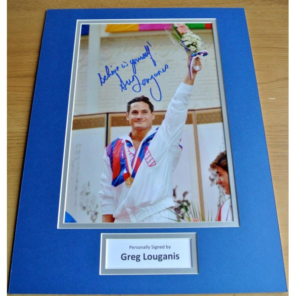 Greg Louganis SIGNED autograph 16x12 photo mount display Olympic Diving  AFTAL & COA Memorabilia CLEARANCE SALE
