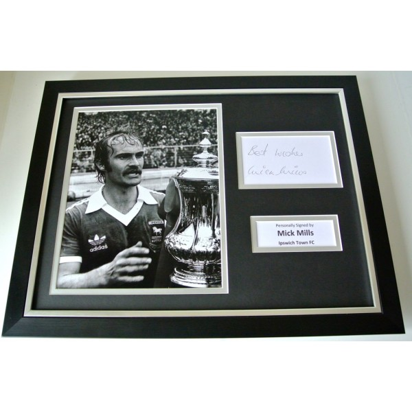 Mick Mills SIGNED FRAMED Photo Autograph 16x12 display Ipswich Town Football COA          PERFECT GIFT