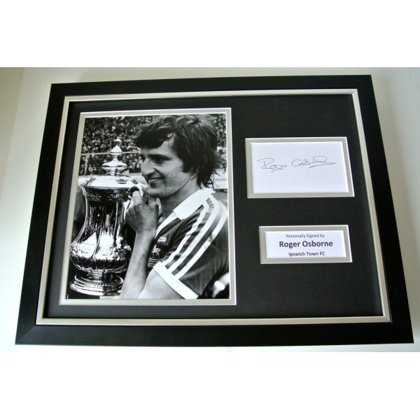 Roger Osborne SIGNED FRAMED Photo Autograph 16x12 display Ipswich Town & COA  PERFECT GIFT