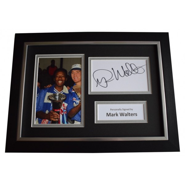 Mark Walters Signed A4 FRAMED photo Autograph display Rangers Football  AFTAL &  COA Memorabilia PERFECT GIFT
