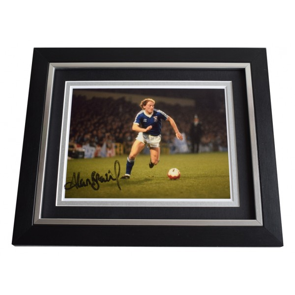 Alan Brazil SIGNED 10x8 FRAMED Photo Autograph Display Ipswich Town AFTAL  COA Memorabilia PERFECT GIFT