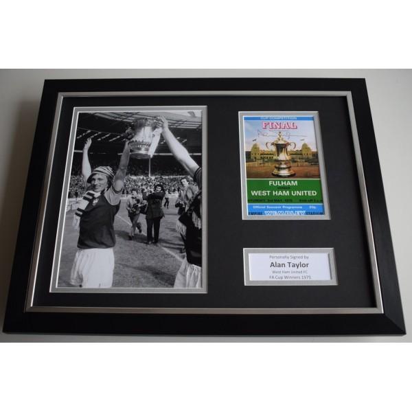 Alan Taylor SIGNED FRAMED Photo Autograph 16x12 display West Ham United AFTAL & COA Memorabilia PERFECT GIFT