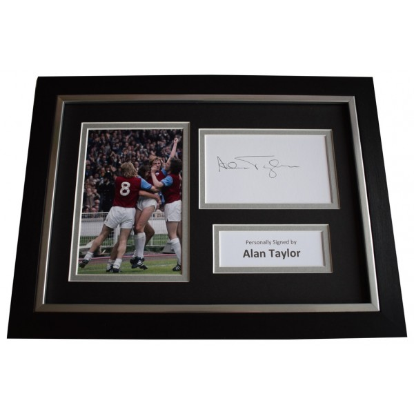 Alan Taylor Signed A4 FRAMED photo Autograph display West Ham United AFTAL &  COA Memorabilia PERFECT GIFT