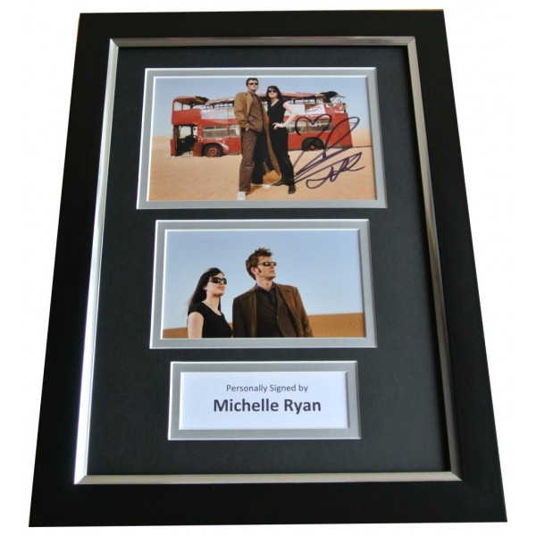 Michelle Ryan Signed A4 FRAMED Photo Autograph Display Doctor Who Actress TV COA PERFECT GIFT