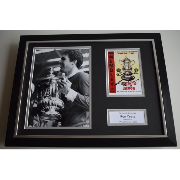 Ron Yeats SIGNED FRAMED Photo Autograph 16x12 display Liverpool Football    AFTAL & COA Memorabilia PERFECT GIFT
