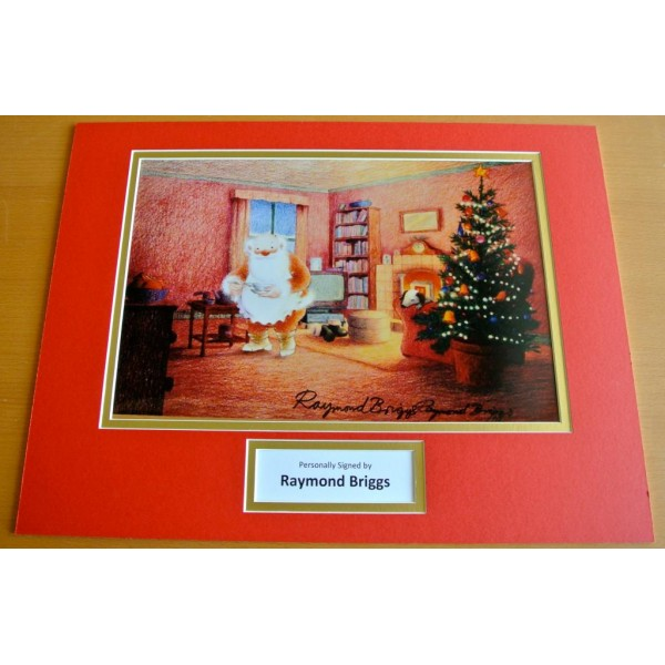 RAYMOND BRIGGS HAND SIGNED AUTOGRAPH 16x12 PHOTO DISPLAY FATHER CHRISTMAS & COA           PERFECT GIFT