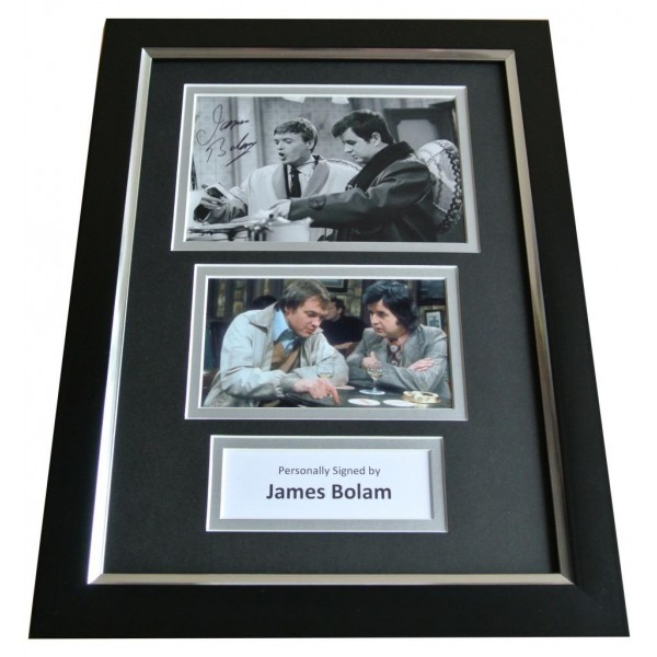 James Bolam Signed A4 FRAMED Photo Autograph Display Likely Lads TV Comedy & COA PERFECT GIFT
