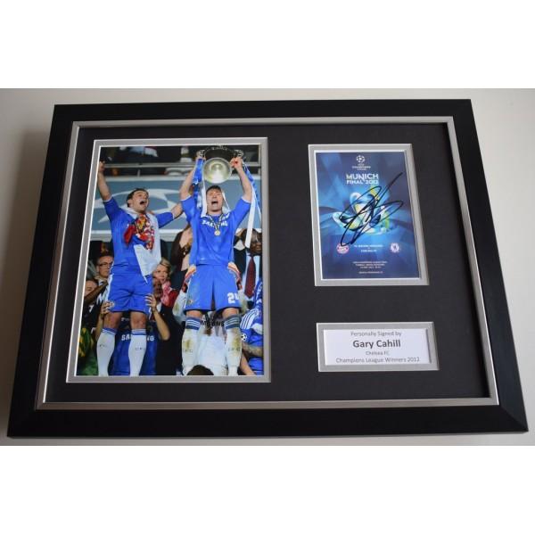 Gary Cahill SIGNED FRAMED Photo Autograph 16x12 display Chelsea Football   AFTAL & COA Memorabilia PERFECT GIFT