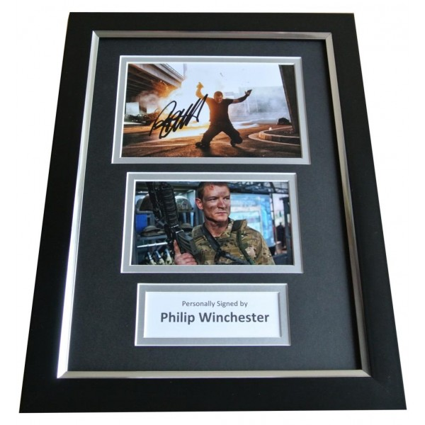Philip Winchester Signed A4 FRAMED Photo Autograph Display Strike Back & COA PERFECT GIFT
