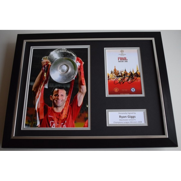 Ryan Giggs SIGNED FRAMED Photo Autograph 16x12 display Manchester United  AFTAL & COA Memorabilia PERFECT GIFT
