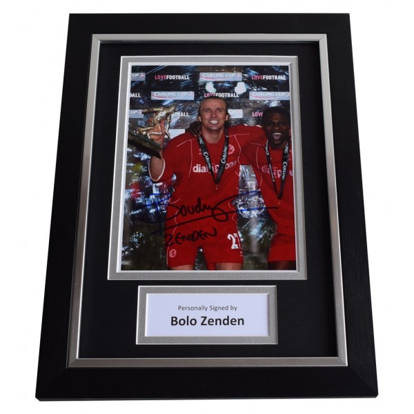 Bolo Zenden Signed A4 FRAMED Autograph Photo Display Middlesbrough Football AFTAL  COA Memorabilia PERFECT GIFT