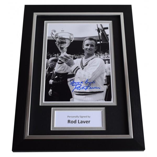Rod Laver Signed A4 FRAMED Autograph Photo Display Tennis Sport AFTAL  COA Memorabilia PERFECT GIFT