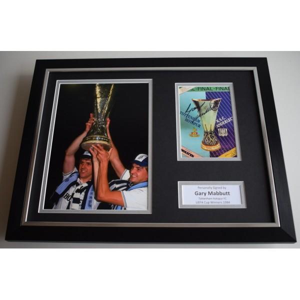 Gary Mabbutt SIGNED FRAMED Photo Autograph 16x12 display Tottenham Hotspur  AFTAL & COA Memorabilia PERFECT GIFT