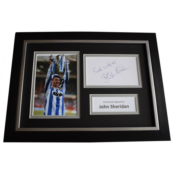 John Sheridan Signed A4 FRAMED photo Autograph display Sheffield Wednesday AFTAL &  COA Memorabilia PERFECT GIFT