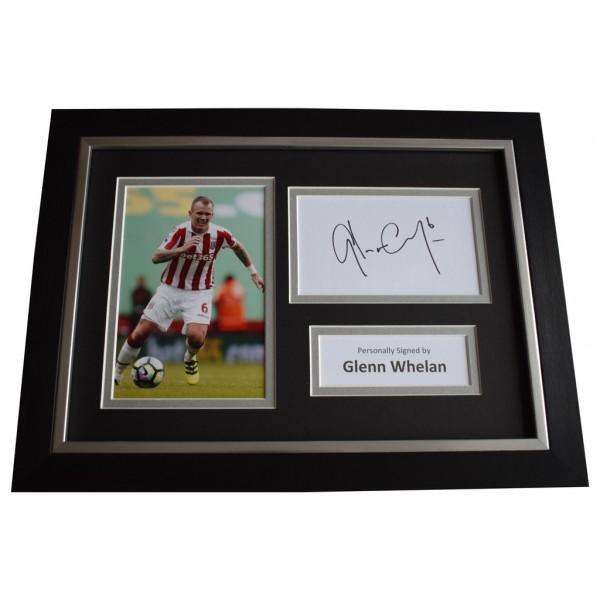 Glenn Whelan Signed A4 FRAMED photo Autograph display Stoke City Football  AFTAL &  COA Memorabilia PERFECT GIFT
