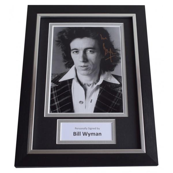 Bill Wyman Signed A4 FRAMED Autograph Photo Display Rolling Stones  AFTAL  COA Memorabilia PERFECT GIFT