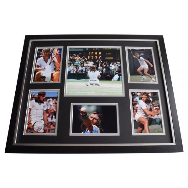Bjorn Borg SIGNED Framed Photo Autograph Huge display Tennis Sport  AFTAL  COA Memorabilia PERFECT GIFT